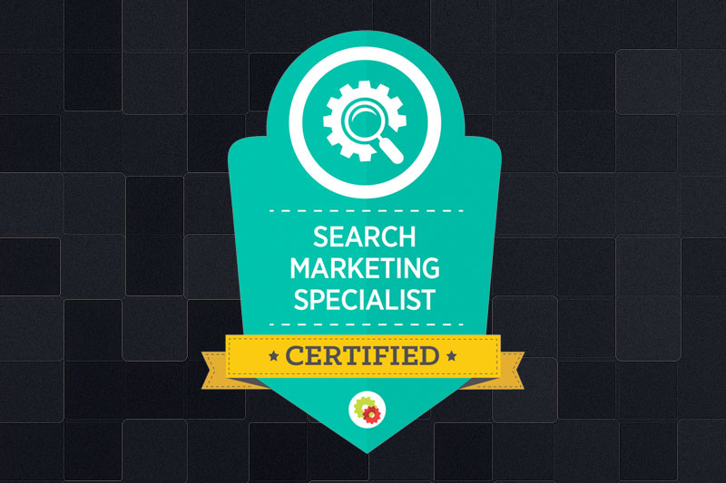 Search marketing specialist certification graphic