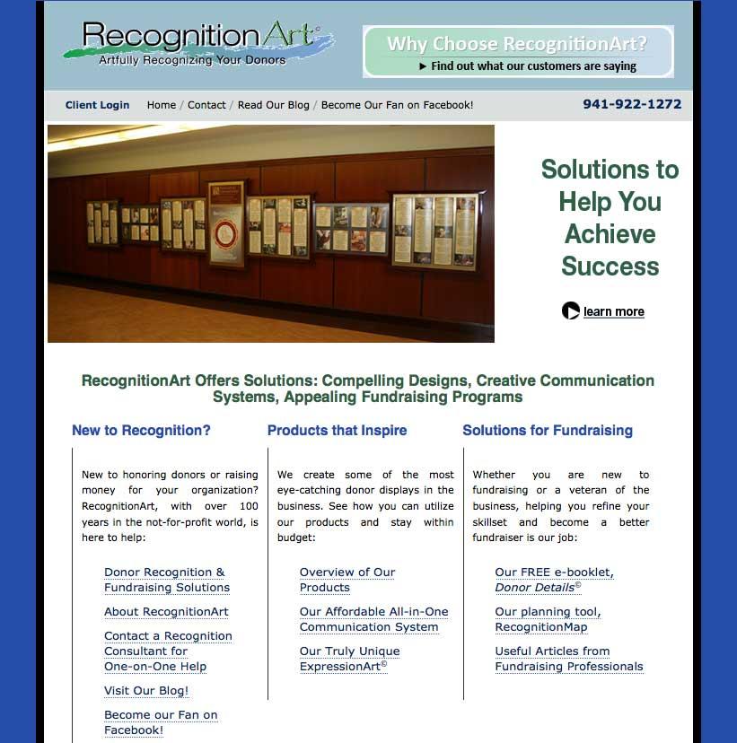 Old RecognitionArt website