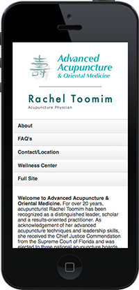 Mobile website for Advanced Acupuncture