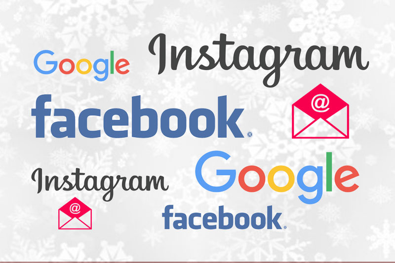 Online lead channels Google Instagram Facebook email graphic