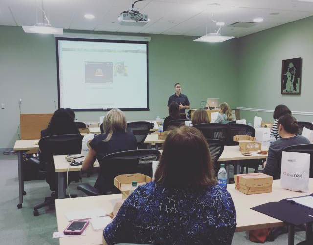 Daryl Schmucker presenting at Manatee FAWL lunch and learn