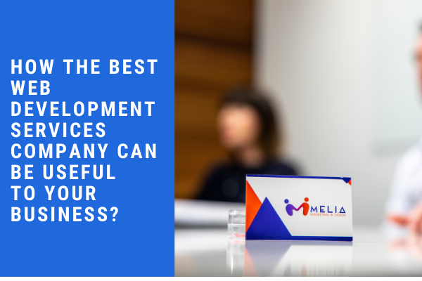 Melia Marketing business card with text overlay