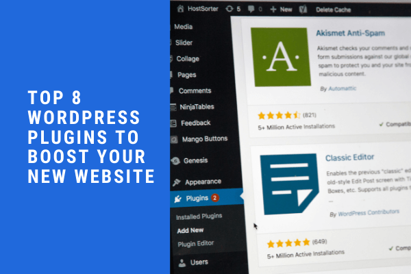 Top 8 Wordpress Plugins
