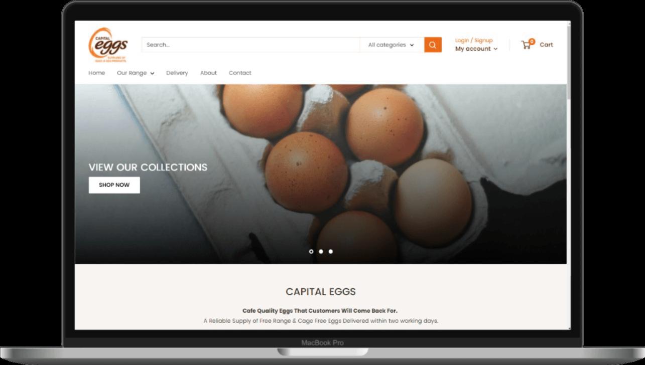 Capital Eggs New Website Mockup