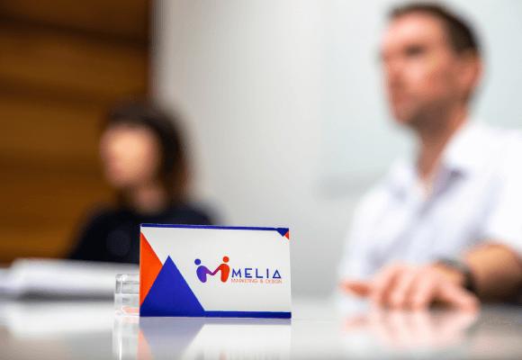 Melia Marketing business card