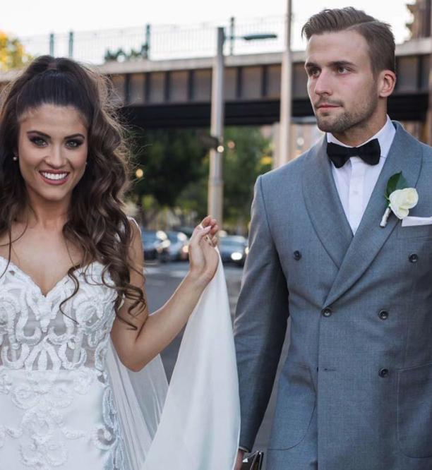 Custom made wedding suit