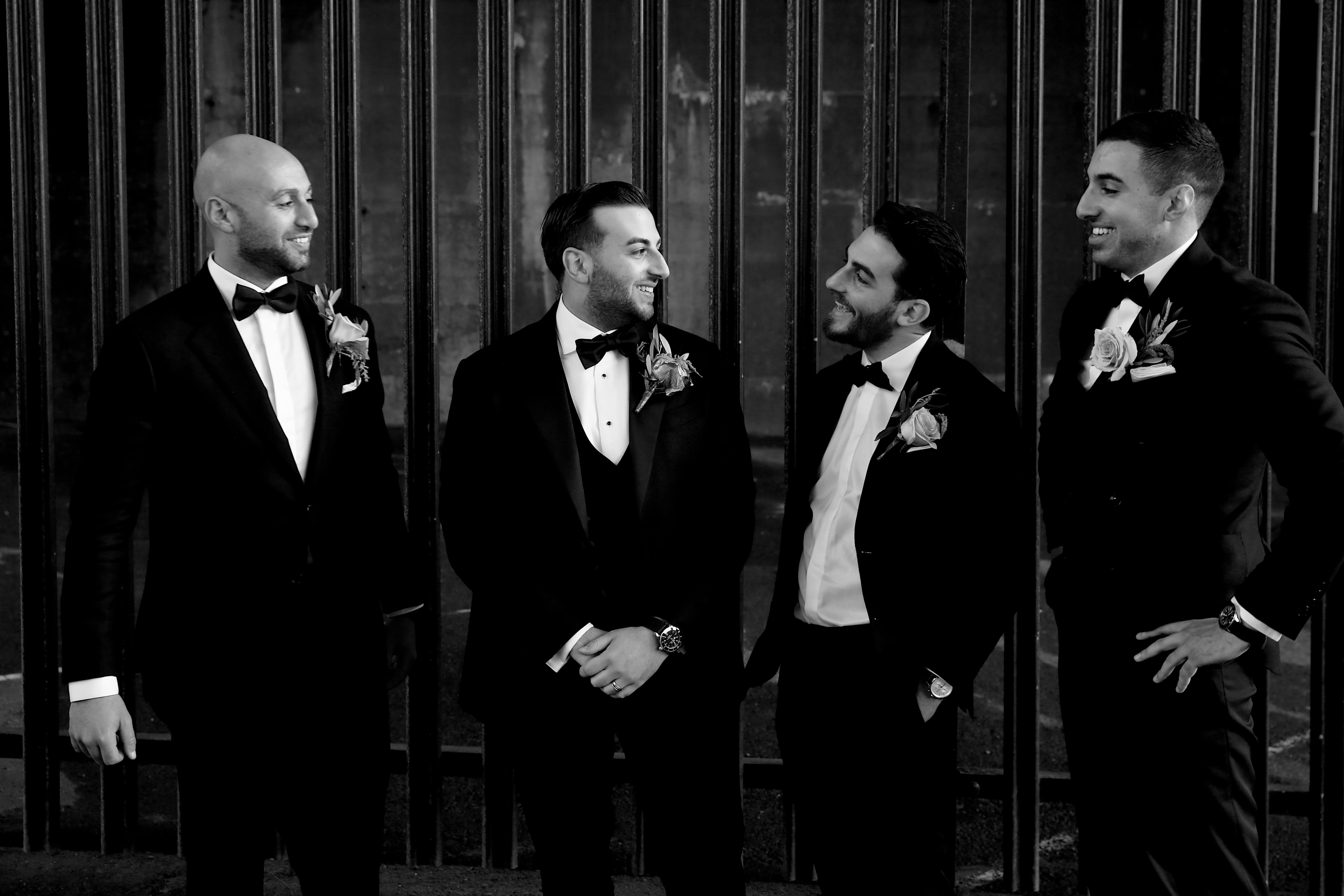 Men wearing a tailor made wedding suits