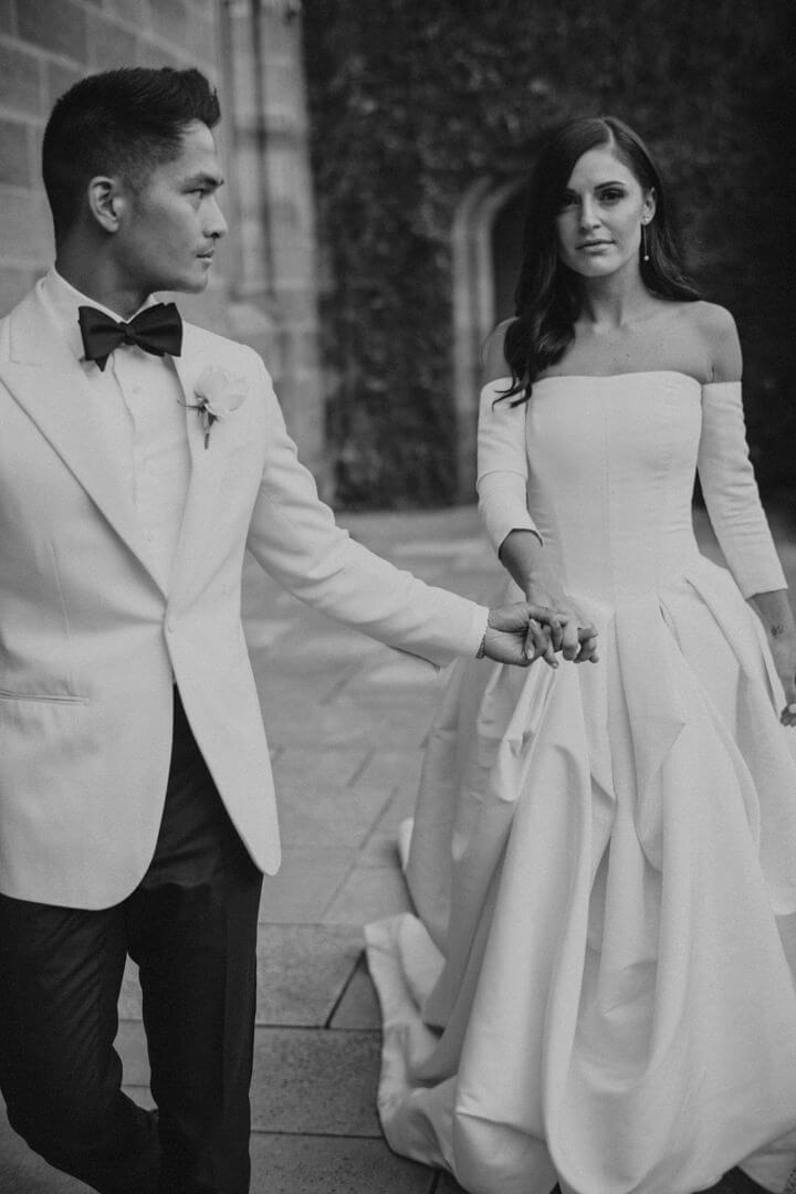 Man wearing a tailor made wedding suit 4