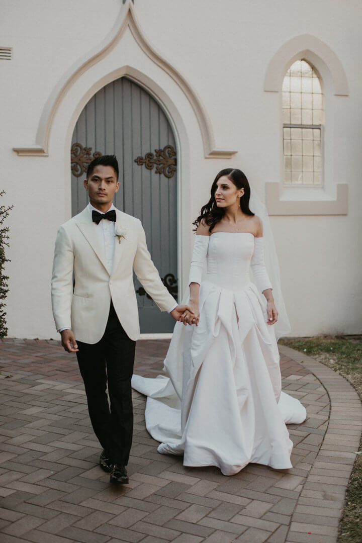 Man wearing a tailor made wedding suit 3