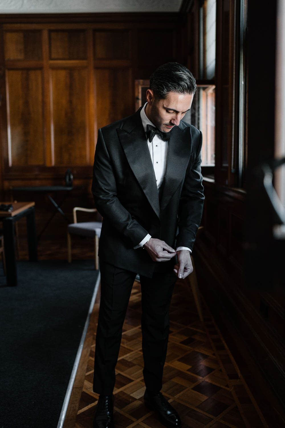 Man wearing a tailor made wedding suit 2