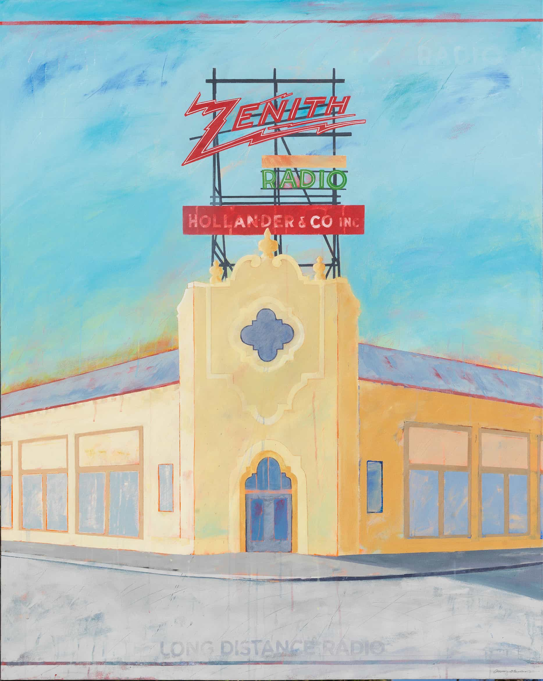 Zenith Radio - Iconic Sign Painting by Dennis Johnson