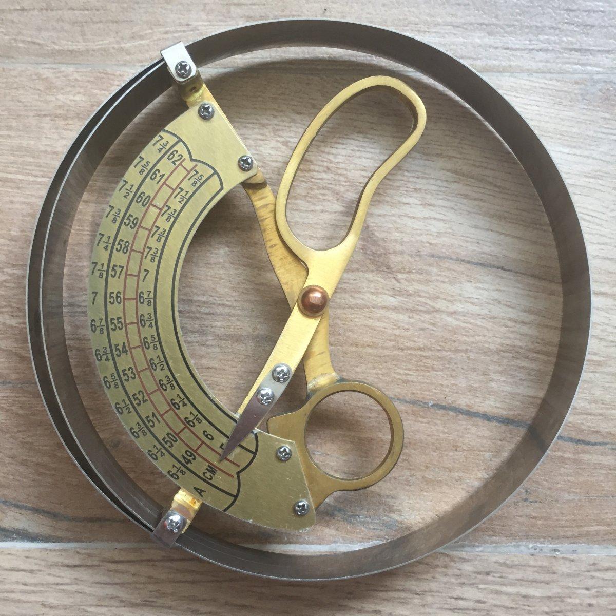 Scissor Type Ring Compass Cap for Hat Size