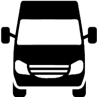 An icon of the front of a van