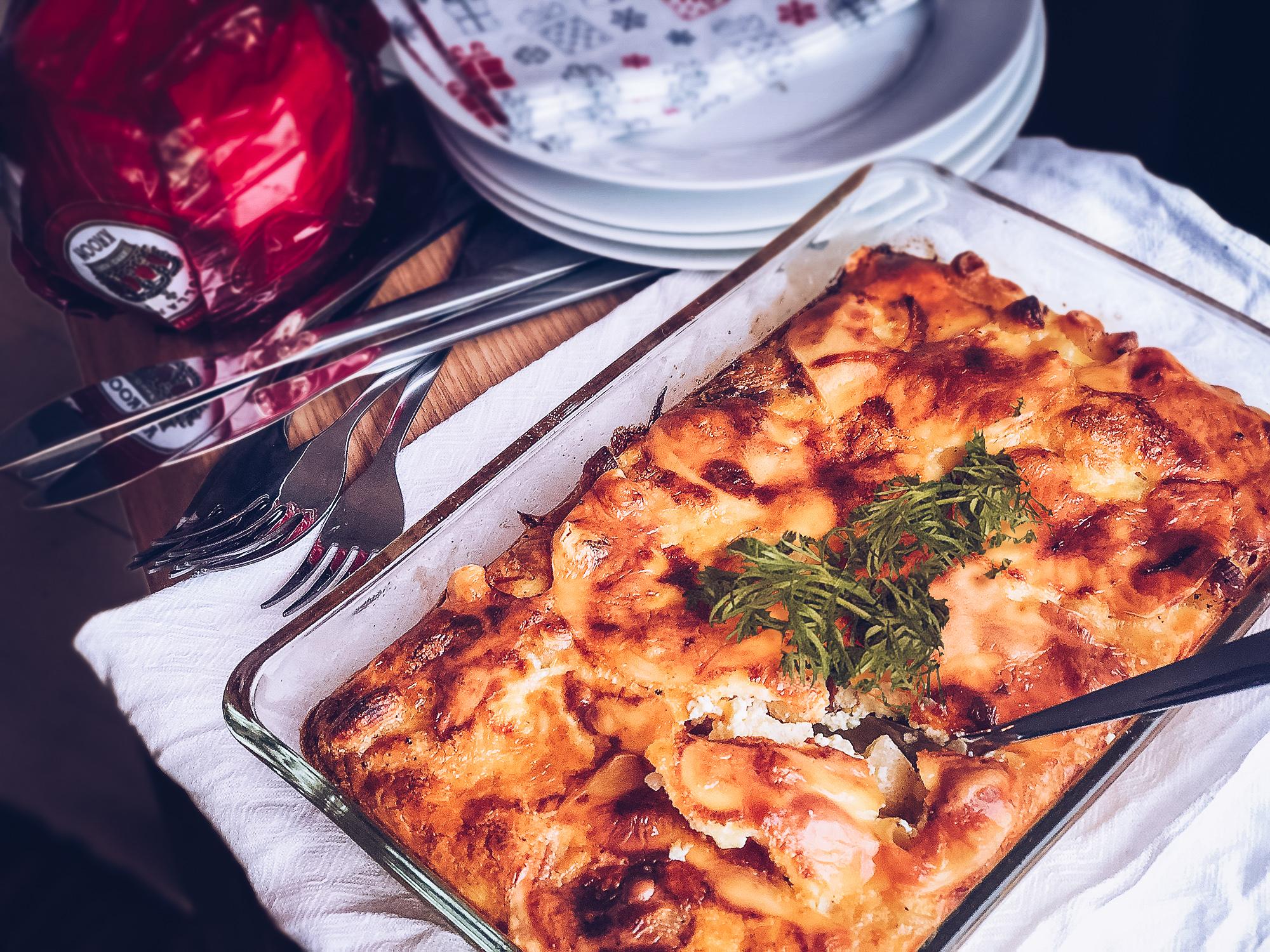 Macaronilåda - med prinskorv