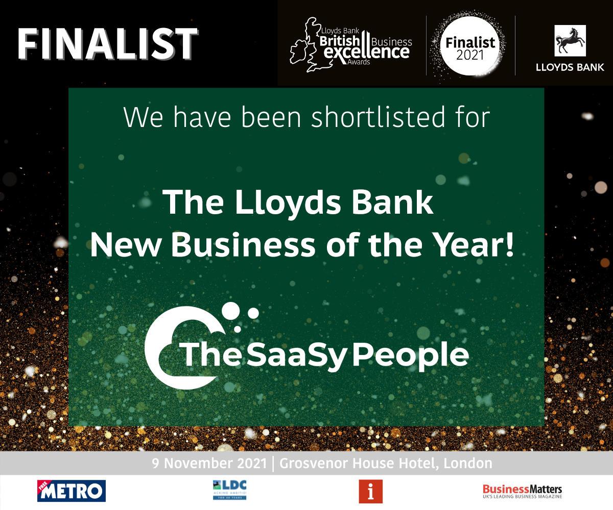 The SaaSy People announced a finalist at the Lloyds Bank Business Excellence Awards 2021