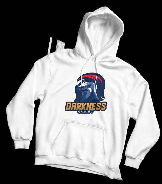 Weißer Hoodie mit Influencer-Logo