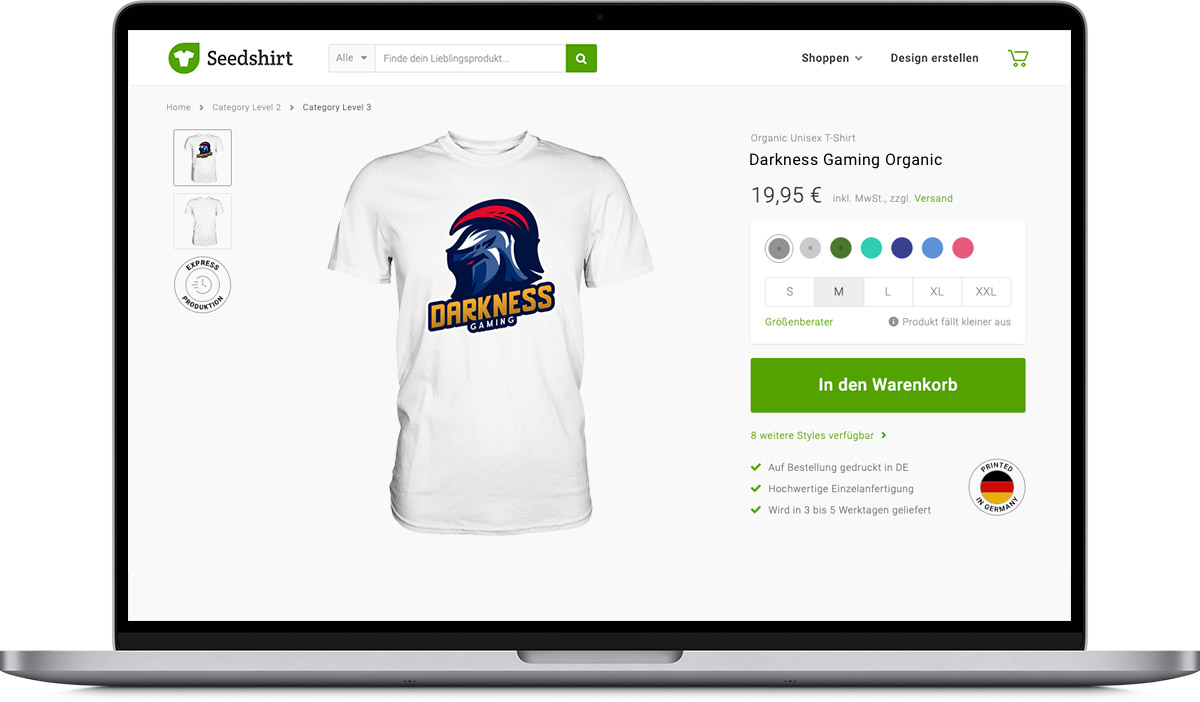 Laptop mit Crowdfunding-Kampagne als Beispiel
