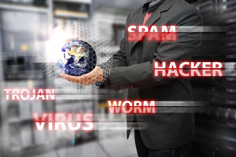 Spam, hacker, trojan, worm en virus
