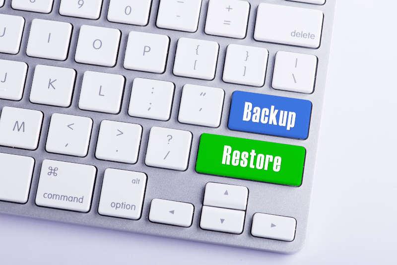Toetsenbord met Backup en Restore toetsen