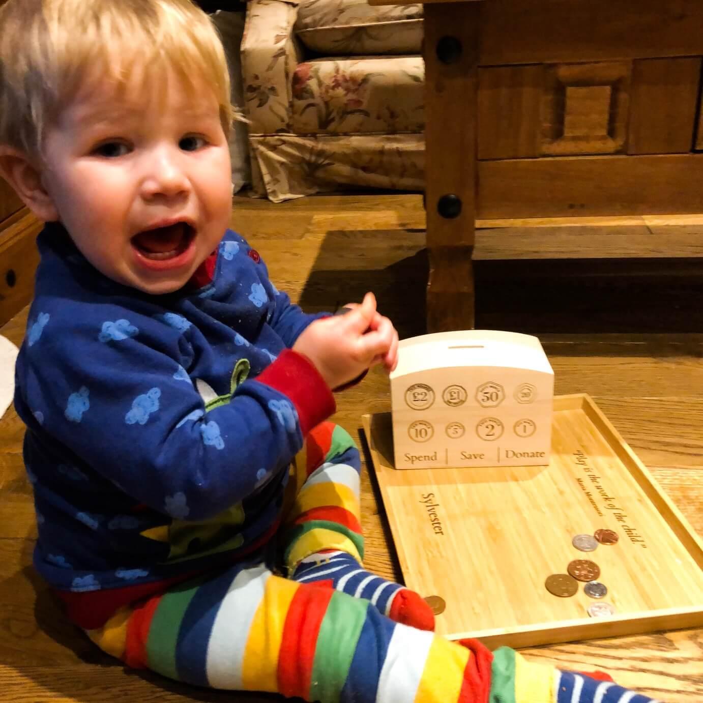 Benedykt and Sylvester - Montessori Money Box
