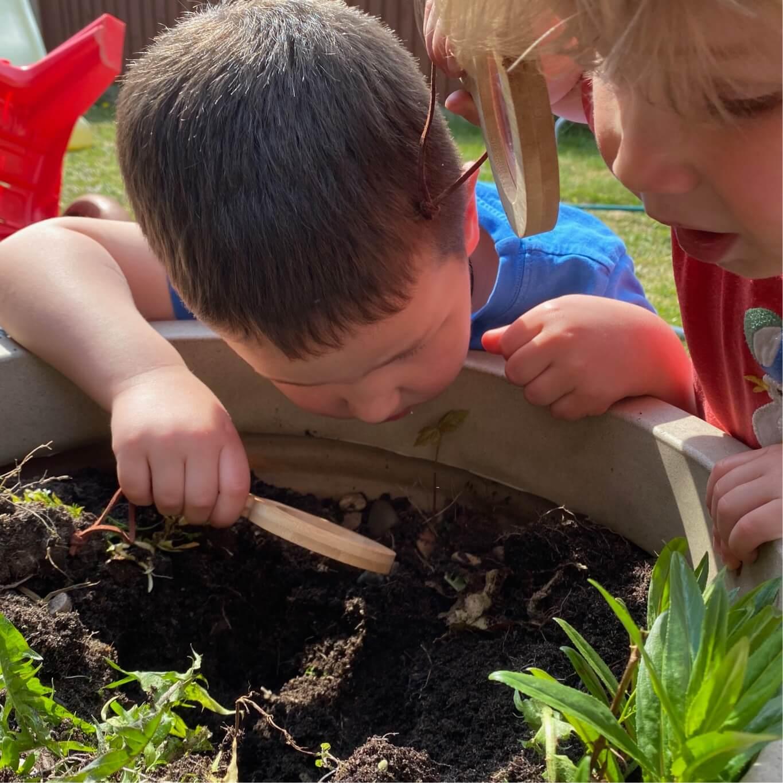 Montessori at Home - In the garden