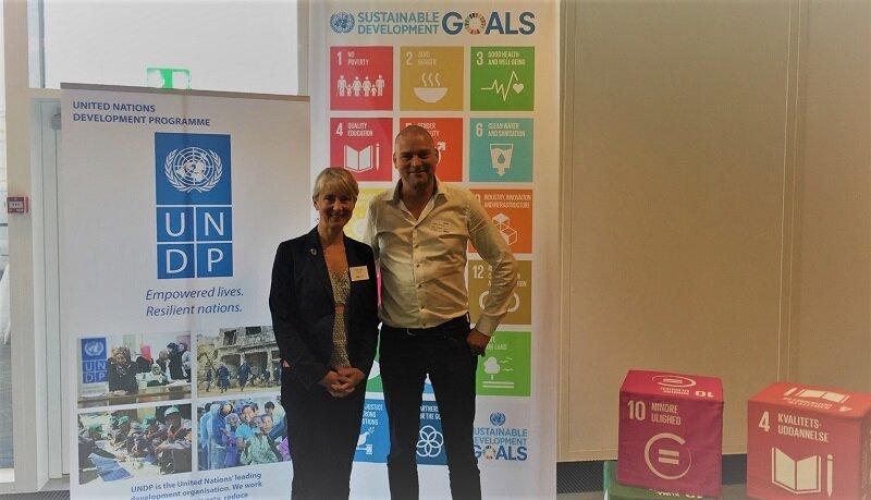 From left; Director UNDP Nordic Office, Camilla Brückner and CCO Alex Ingildsen LTP Group