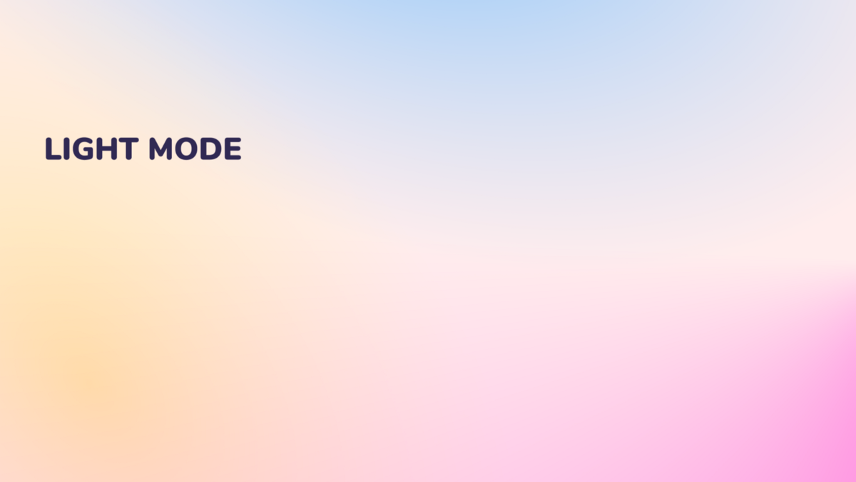 Light mode colours