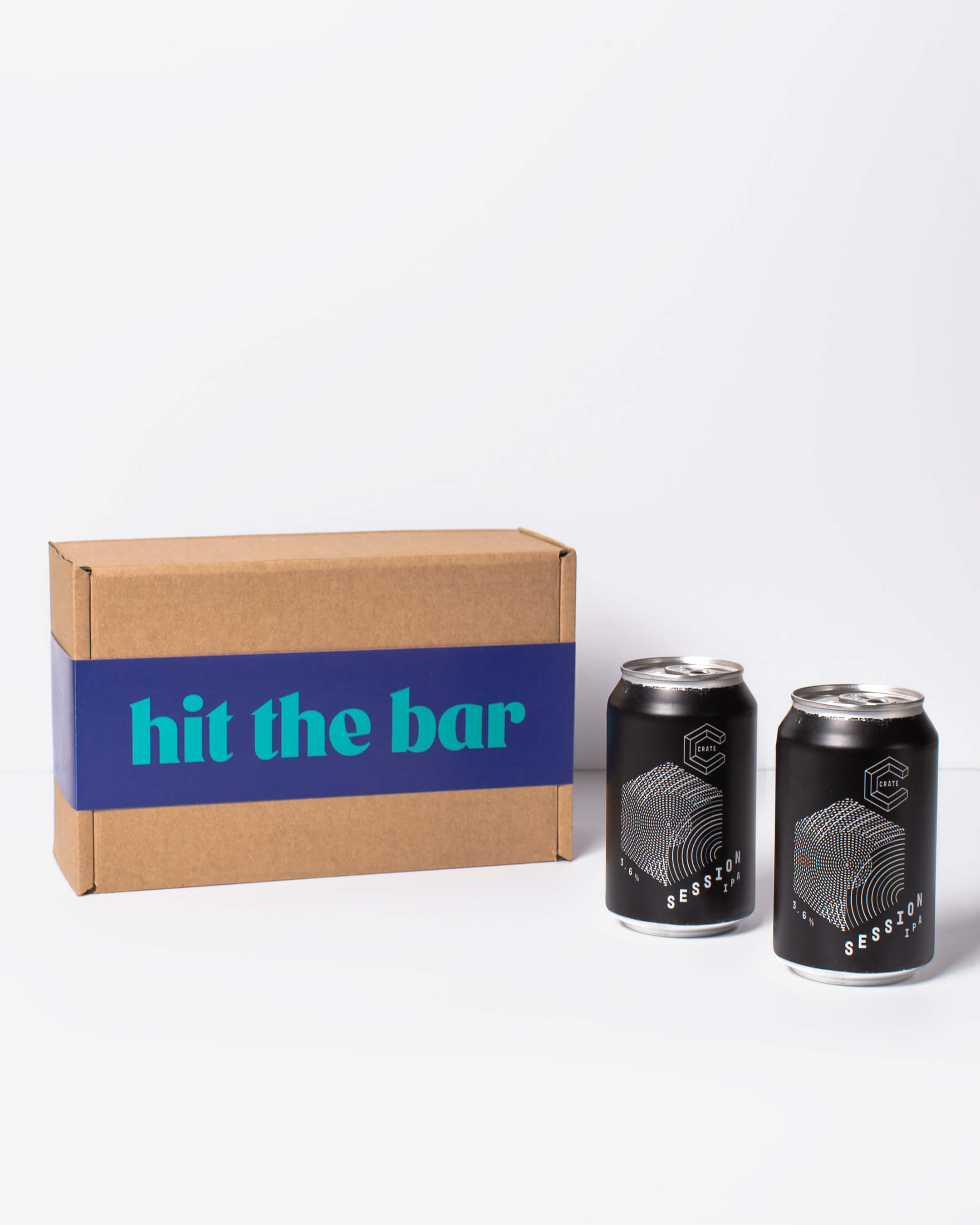 Crate Brewery IPA cans & ta. box