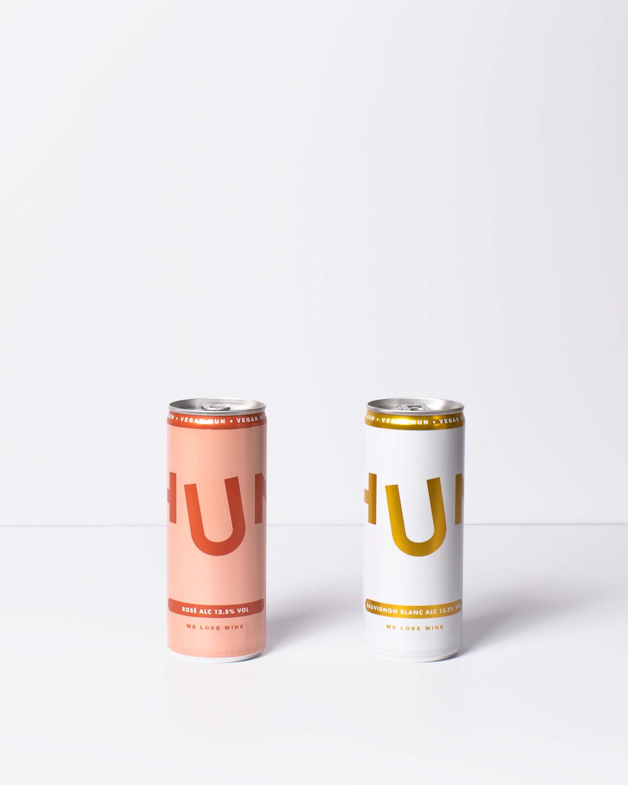 Hun white & rosé wine cans
