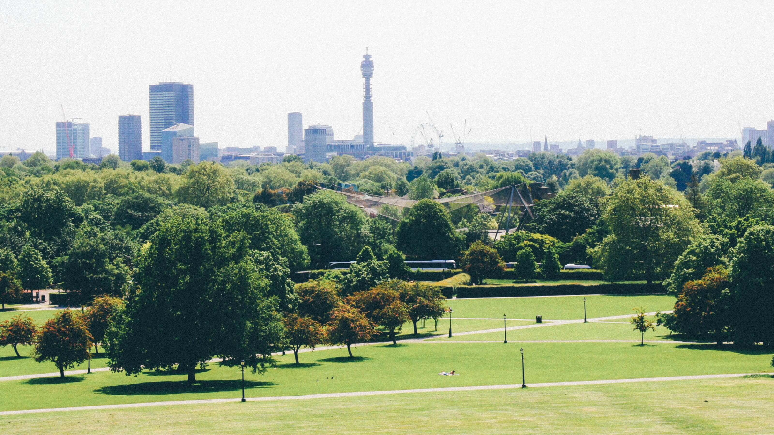 View looking at London Skyline from Primrose Hill
