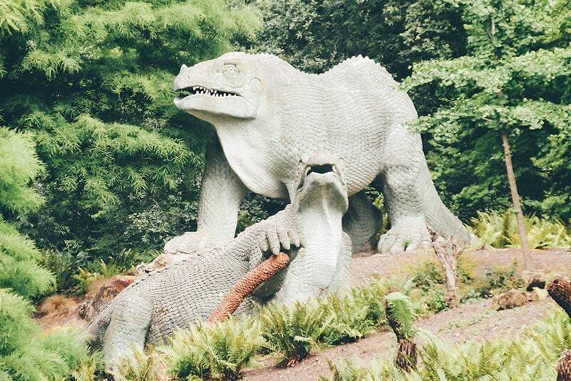 Dinosaur Sculptures at Crystal Palace Park