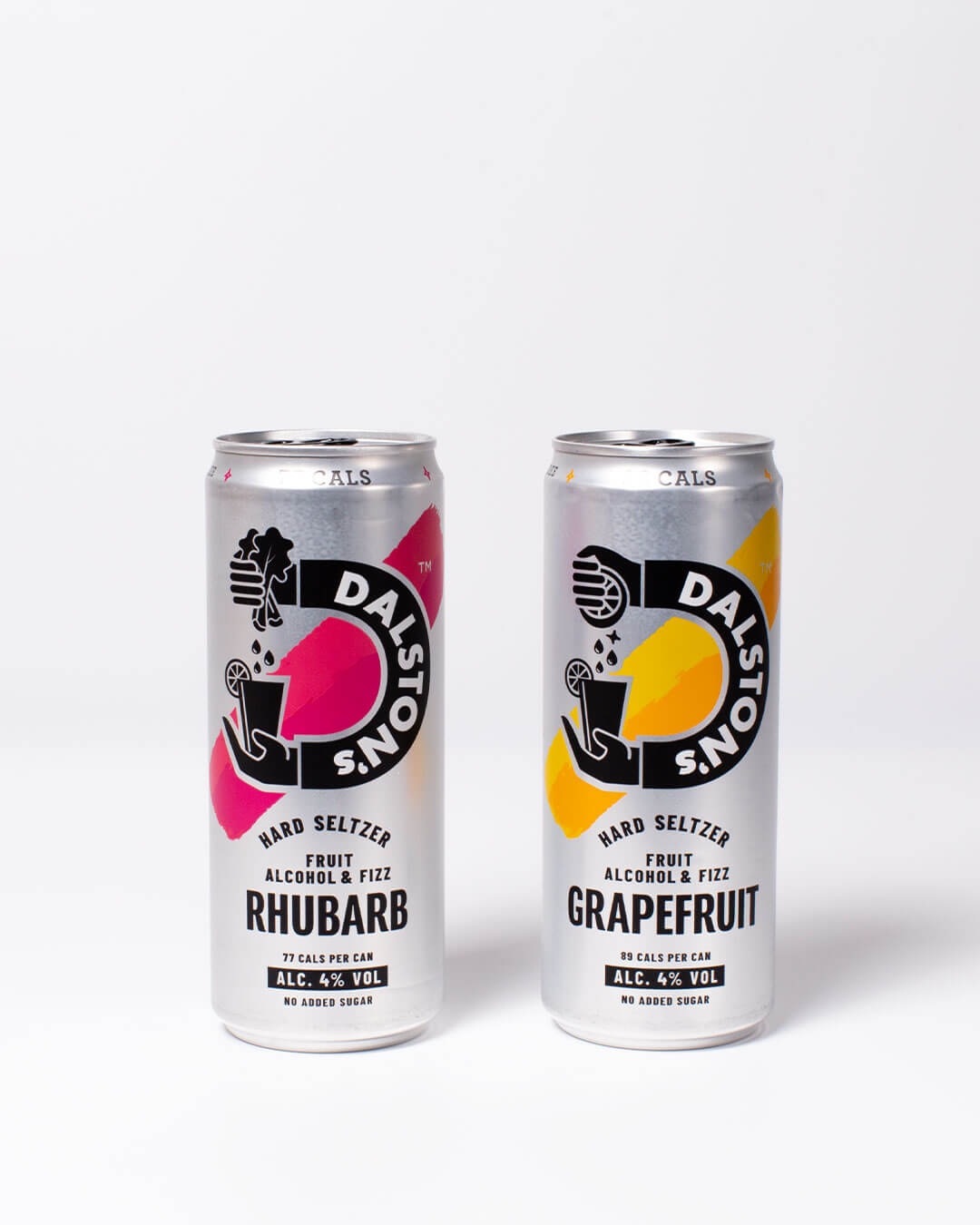 Dalston's rhubarb & grapefruit hard seltzer cans