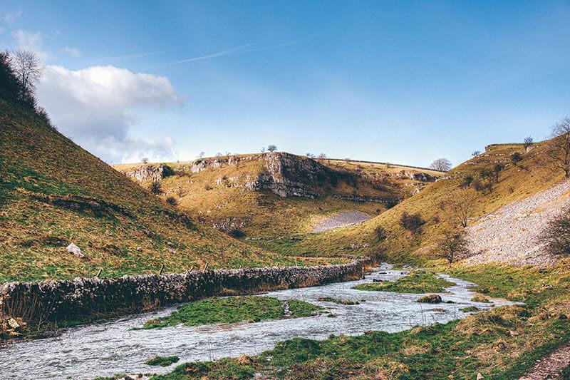 Lathkill Dale hills