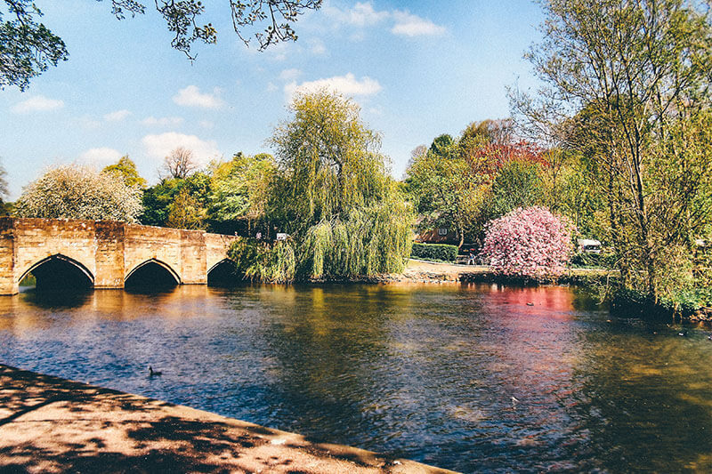 The bridge and river at Bakewell Village