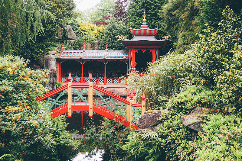 The Chinese bridge at Biddulph Grange Gardens