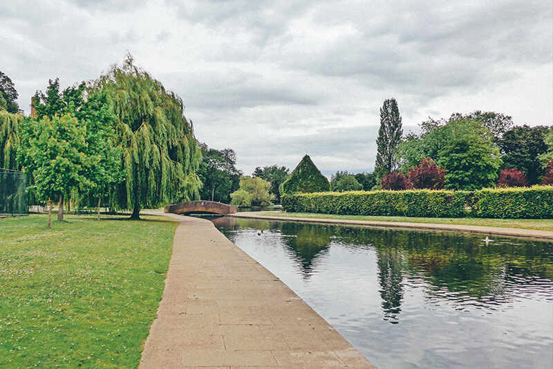 view of the lake at Rowntree park