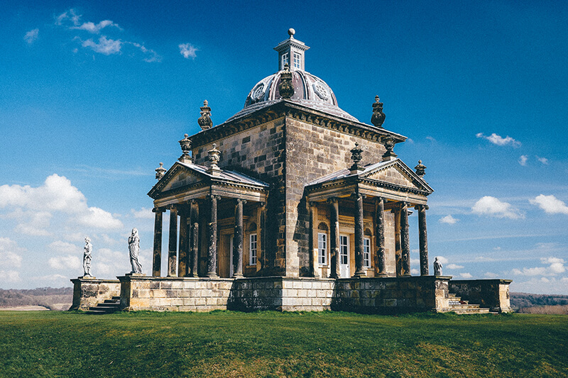 Temple of four winds at Castle Howard
