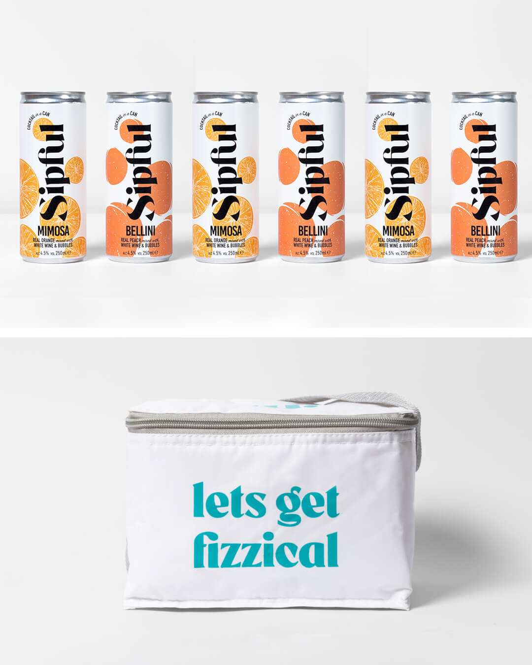 Sipful cocktail cans & ta. cool bag
