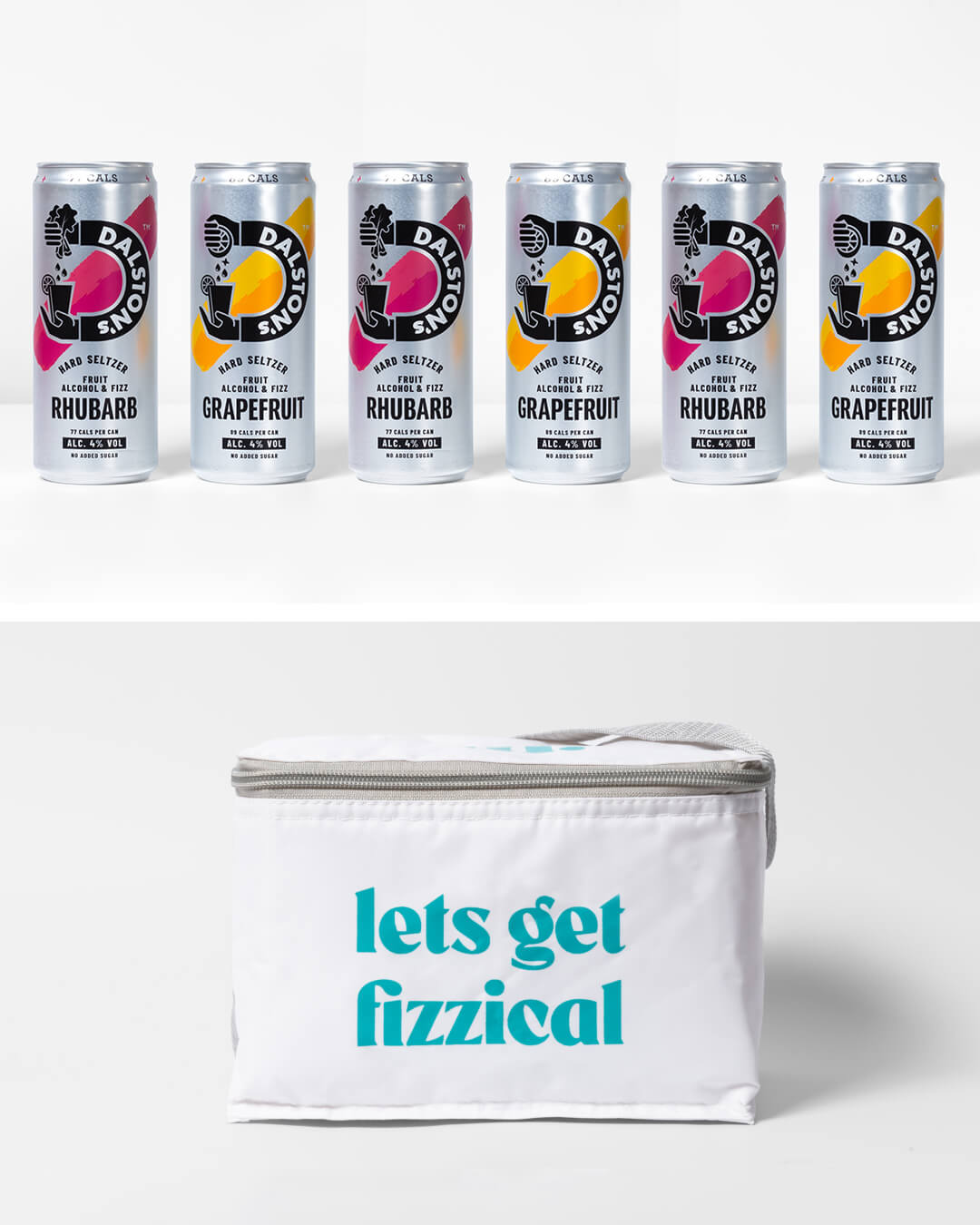 Dalston's Hard Seltzer cans & ta. cool bag