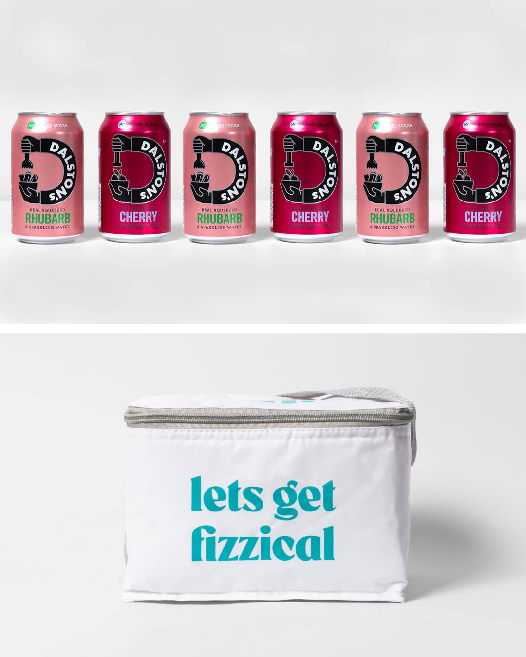 Dalston's soft seltzer cans & ta. cool bag