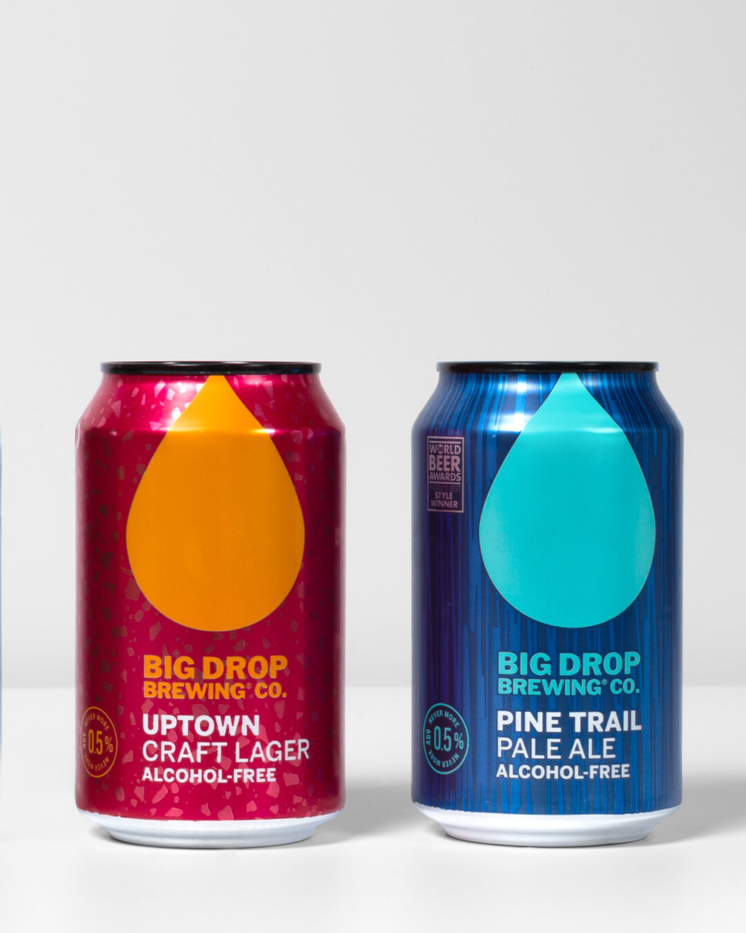 Big Drop Brewing Co alcohol free craft beer cans