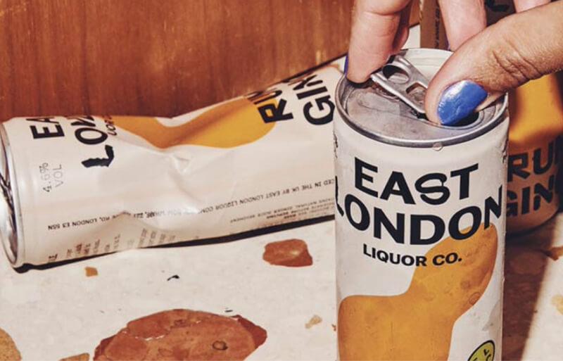 Eas London Liquor Rum & Ginger Cans