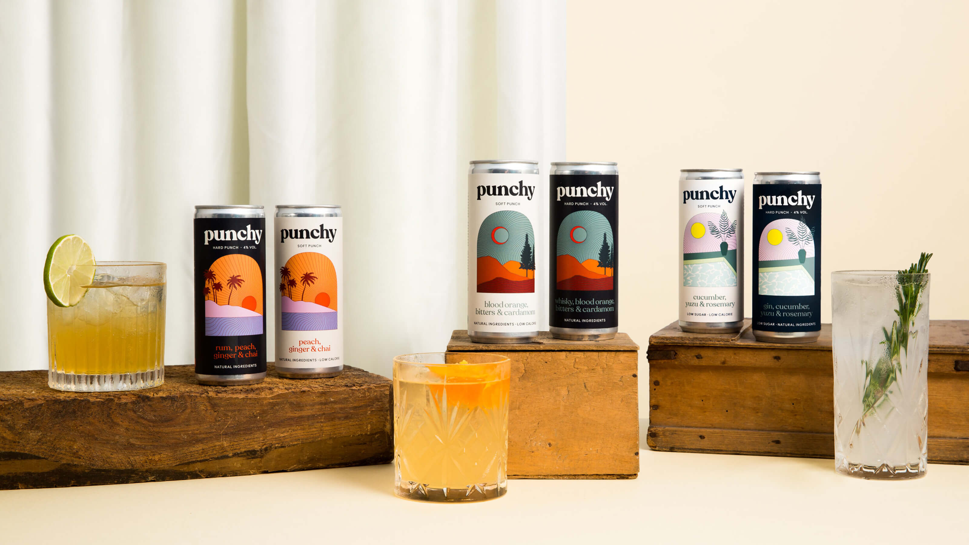 punchy alcohol free cocktail cans
