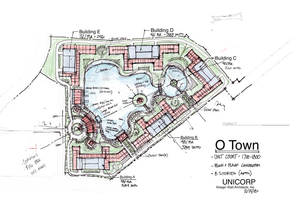 Glasshouse site concept drawing