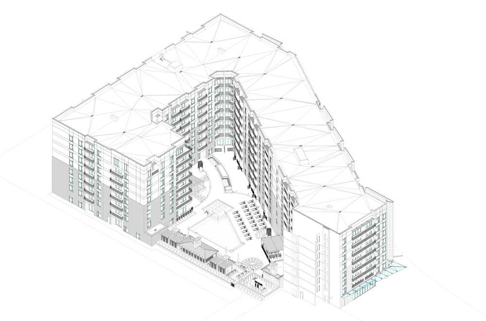 Zen Apartments building elevation drawing