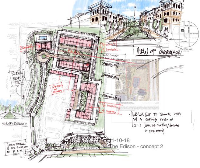 The Edison site plan sketch