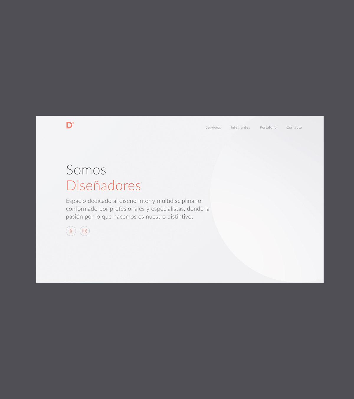 d' diseño website project image