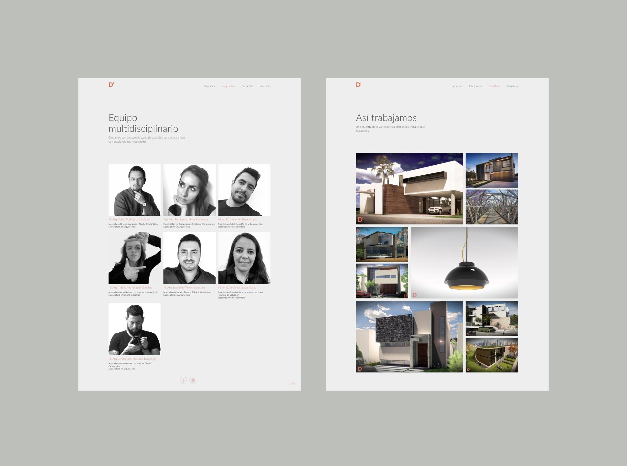 Ddiseño team and portfolio pages