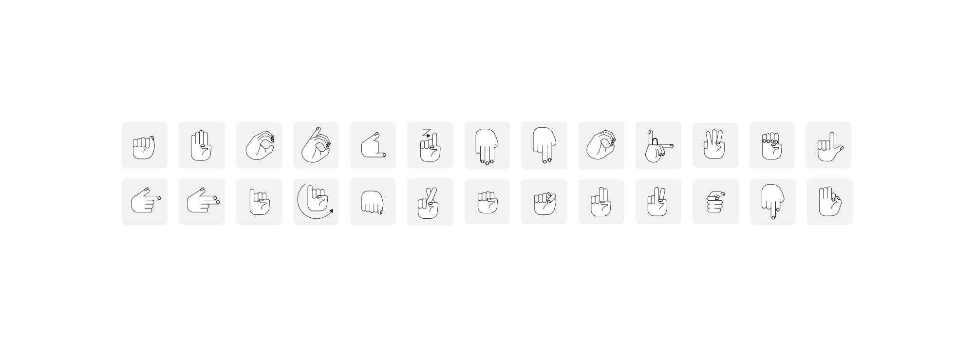 Lenguaje de señas mexicanas iconography