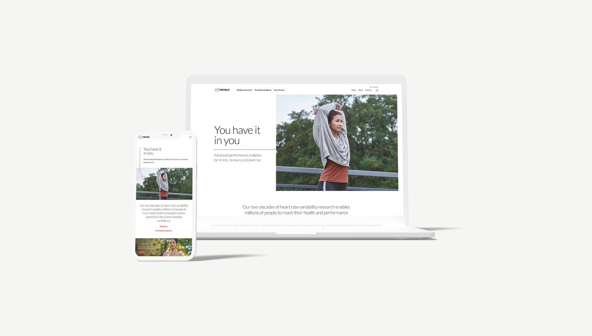 Firstbeat website